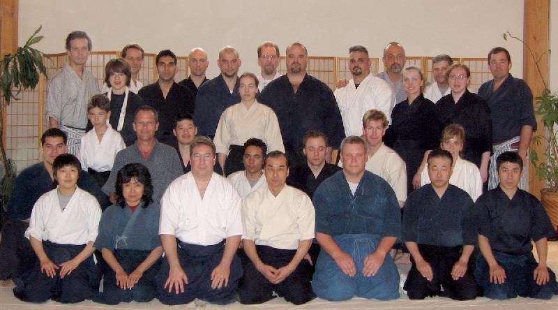 A picture of Members of STK with Kuroda Sensei and some of his other US Students during the 2006 Annual US Seminar held in Texas.