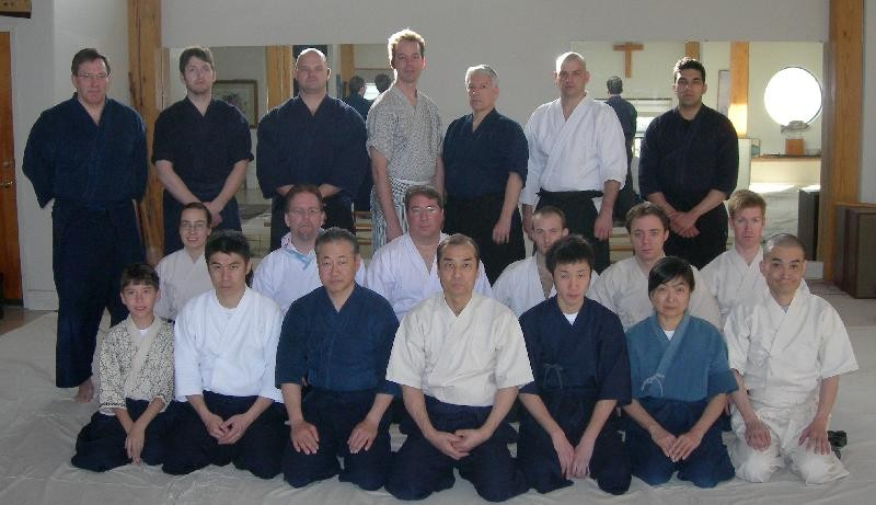 A picture of some of the attendees at the 2008 Annual US Seminar with Kuroda Sensei, held in Texas for the 10th Anniversary of Kuroda Sensei first coming to the US.